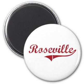 Diseño clásico de Roseville Ohio Imán Redondo 5 Cm