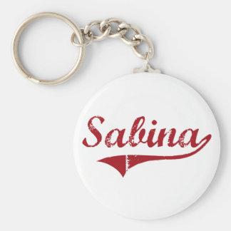 Diseño clásico de Sabina Ohio Llaveros Personalizados