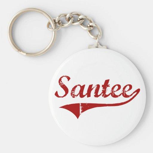 Diseño clásico de Santee Carolina del Sur Llaveros Personalizados