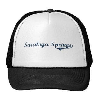 Diseño clásico de Saratoga Springs Nueva York Gorro De Camionero
