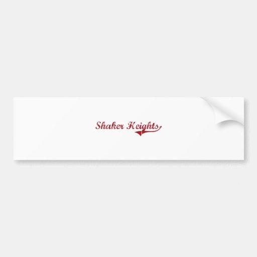 Diseño clásico de Shaker Heights Ohio Etiqueta De Parachoque