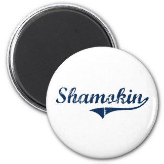 Diseño clásico de Shamokin Pennsylvania Imán Redondo 5 Cm