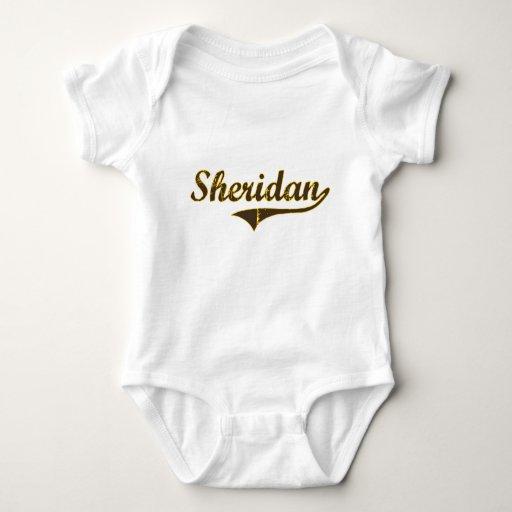 Diseño clásico de Sheridan Wyoming Playera