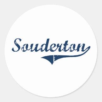 Diseño clásico de Souderton Pennsylvania Etiquetas Redondas