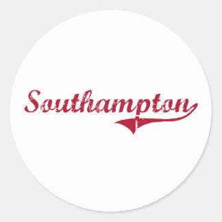 Diseño clásico de Southampton New Jersey Etiqueta Redonda