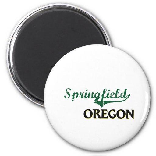 Diseño clásico de Springfield Oregon Imán Para Frigorifico