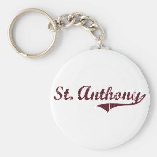 Diseño clásico de St Anthony Minnesota Llaveros Personalizados