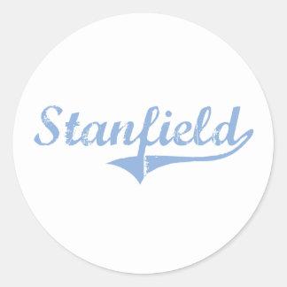 Diseño clásico de Stanfield Carolina del Norte Etiqueta Redonda
