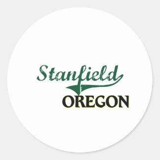 Diseño clásico de Stanfield Oregon Etiquetas Redondas