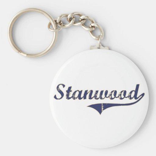 Diseño clásico de Stanwood Washington Llavero