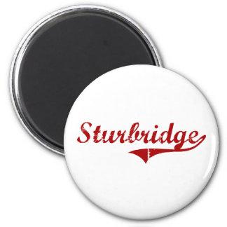 Diseño clásico de Sturbridge Massachusetts Imán Redondo 5 Cm