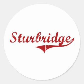 Diseño clásico de Sturbridge Massachusetts Pegatina Redonda