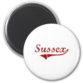 Diseño clásico de Sussex Wisconsin Iman De Frigorífico