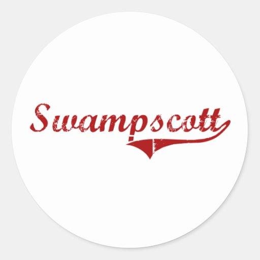 Diseño clásico de Swampscott Massachusetts Etiquetas Redondas