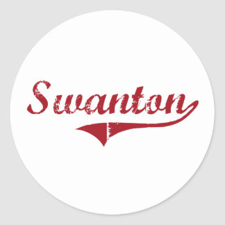 Diseño clásico de Swanton Ohio Etiqueta Redonda