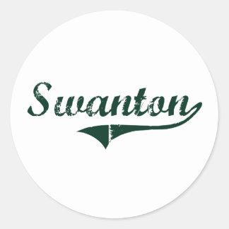 Diseño clásico de Swanton Vermont Pegatinas