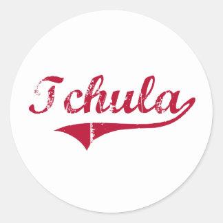 Diseño clásico de Tchula Mississippi Pegatina Redonda