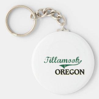 Diseño clásico de Tillamook Oregon Llavero Redondo Tipo Pin