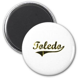 Diseño clásico de Toledo Iowa Imán Redondo 5 Cm