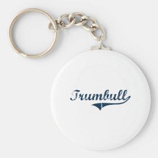 Diseño clásico de Trumbull Connecticut Llavero Redondo Tipo Pin
