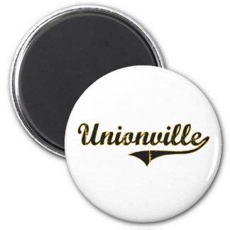 Diseño clásico de Unionville Missouri Imán Redondo 5 Cm