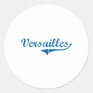 Diseño clásico de Versalles Kentucky Etiquetas Redondas