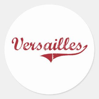 Diseño clásico de Versalles Ohio Pegatina Redonda