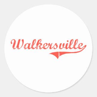 Diseño clásico de Walkersville Maryland Etiqueta Redonda