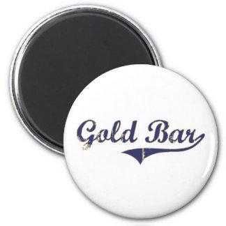 Diseño clásico de Washington de la barra de oro Imán Redondo 5 Cm