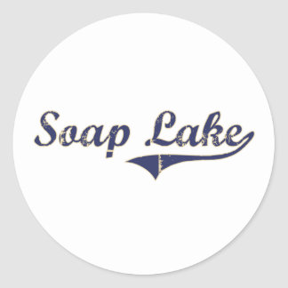 Diseño clásico de Washington del lago soap Pegatina Redonda