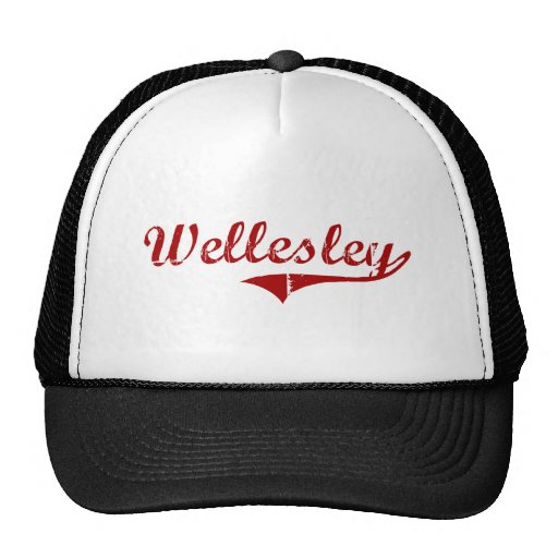 Diseño clásico de Wellesley Massachusetts Gorras De Camionero