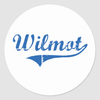 Diseño clásico de Wilmot New Hampshire Pegatina Redonda