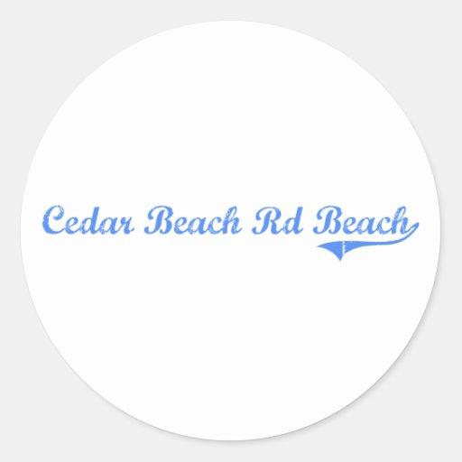 Diseño clásico de Wisconsin de la playa del Rd de Pegatinas Redondas