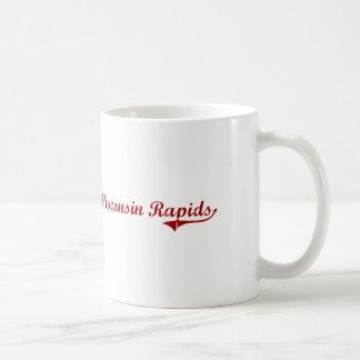 Diseño clásico de Wisconsin de los Rapids de Wisco Tazas De Café