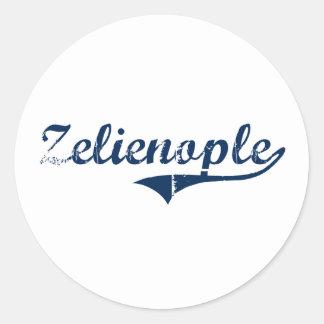 Diseño clásico de Zelienople Pennsylvania Pegatina Redonda