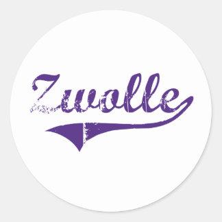 Diseño clásico de Zwolle Luisiana Etiquetas Redondas