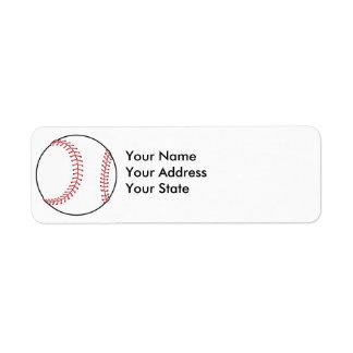 diseño clásico del béisbol etiquetas de remite