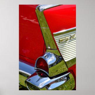Diseño clásico del coche de Chevy Impresiones