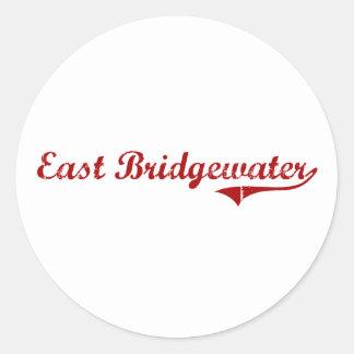 Diseño clásico del este de Bridgewater Etiqueta Redonda