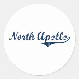 Diseño clásico del norte de Apolo Pennsylvania Etiquetas Redondas