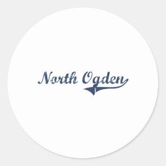 Diseño clásico del norte de Ogden Utah Etiqueta