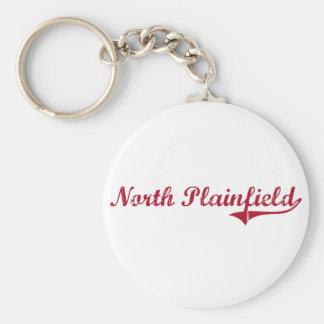 Diseño clásico del norte de Plainfield New Jersey Llavero Redondo Tipo Pin