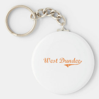 Diseño clásico del oeste de Dundee Illinois Llavero Redondo Tipo Pin