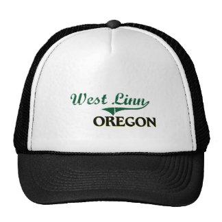 Diseño clásico del oeste de Linn Oregon Gorra