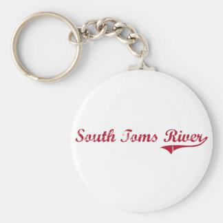 Diseño clásico del sur de Toms River New Jersey Llavero Redondo Tipo Pin
