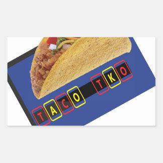 Diseño clásico del Taco del Taco TKO Pegatina Rectangular