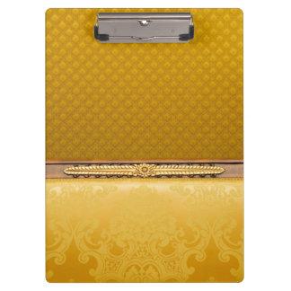 Diseño clásico retro del damasco de Brown del oro