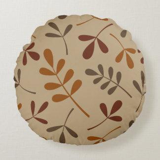 Diseño clasificado grande de las hojas de la caída cojín redondo