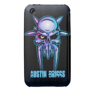 Diseño claveteado del cráneo del metal funda para iPhone 3 de Case-Mate