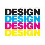 Diseño CMYK Tarjeta Postal